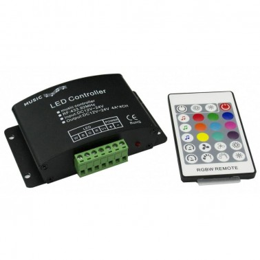 Cumpara RGBW Audion controller HX-AUDIO-RGBW-RF24K LED market in Romania, livrarea in toata Romania