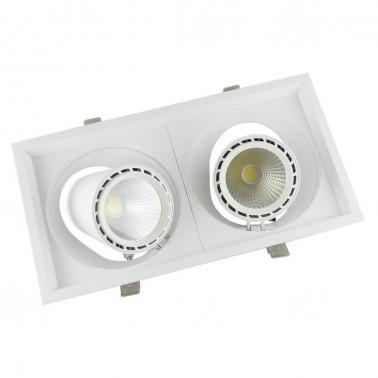 Cumpara Spot cu LED orientabil incastrabil LED market 2COB S2052-2 in Romania, livrarea in toata Romania