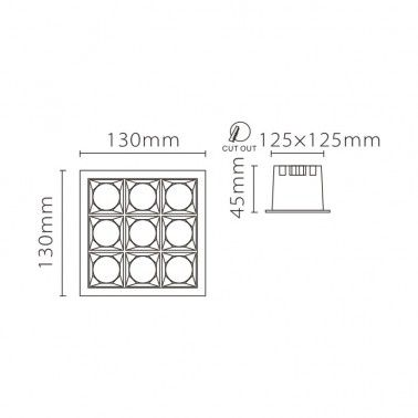 Cumpara Spot cu LED incastrabil LM-XL003-36WS LED market in Romania, livrarea in toata Romania