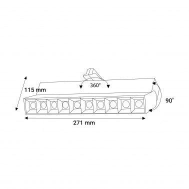 Cumpara Proiector pe șina linear LM35-10 10*2W Alb in Romania, livrarea in toata Romania