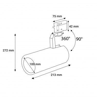 Proiector pe șina LED market D-100 Alb 40W la 330,00LEI | LedMarke...