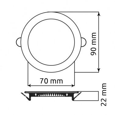 Cumpara Spot LED Rotund Incastrat LM-P0103-RR 3W in Romania, livrarea in toata Romania