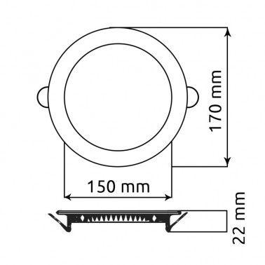 Cumpara Spot LED Rotund Incastrat LM-P0112-RR 12W in Romania, livrarea in toata Romania
