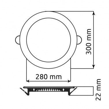 Cumpara Spot LED Rotund Incastrat LM-P0124-RR 24W in Romania, livrarea in toata Romania