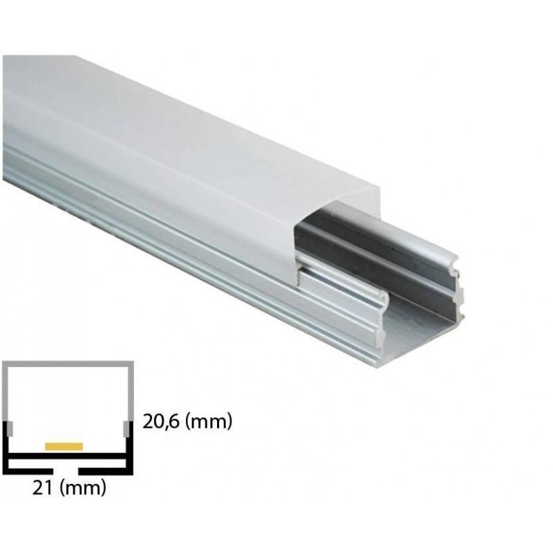 Cumpara Profil de aluminiu pentru banda LED L-035 2m in Romania, livrarea in toata Romania