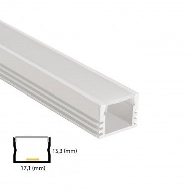 Cumpara Profil de aluminiu pentru banda LED L-017 2m in Romania, livrarea in toata Romania