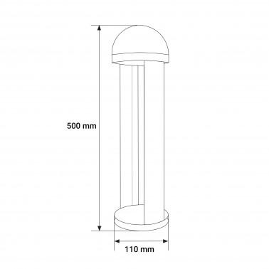 Cumpara Stalp LED iluminat gradina LED market A067-1 black 12W in Romania, livrarea in toata Romania