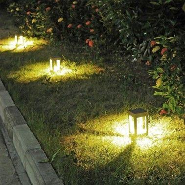 Cumpara Stalp LED iluminat gradina LED market A056 black 12W in Romania, livrarea in toata Romania