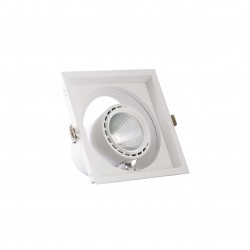 Spot cu LED orientabil incastrabil LED market 1COB S2052-1