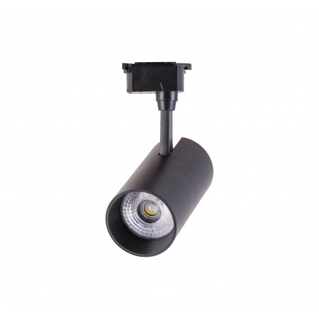 Spot LED 12W, 1368lm - 50 000 ore, directionabil pe sina monofazata, LED Market, OU-TL-007BK, Corp negru