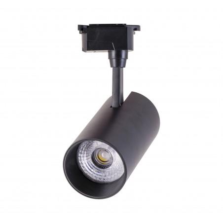 Spot LED 25W, 2850lm - 50 000 ore, directionabil pe sina monofazata, iluminare comerciala, LED Market, OU-TL-007BK, Corp negru