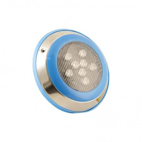 Corp aplicat LED RGB IP68 subacvatic pentru piscina, LED Market, LM-PL006, Putere 24W(8*3W) 24VDC compatibil cu controler DLV003