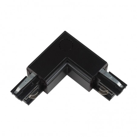 Track Line Conector 90° L Type 4wires BLACK H-04 RIGHT
