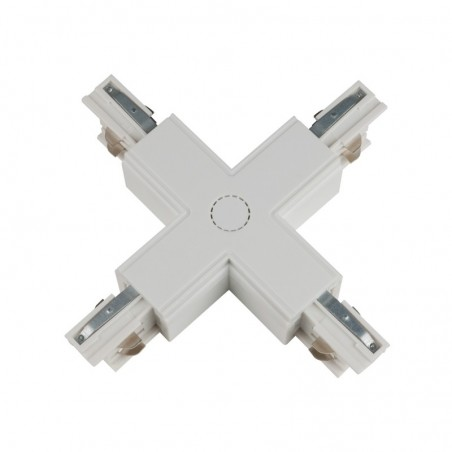 Track Line Conector 4x90° X Type Black 4Wires WHITE H-04