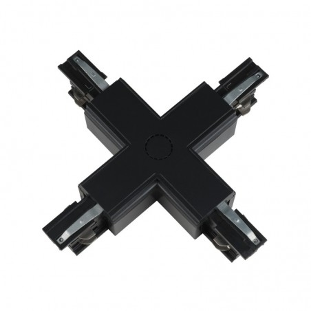 Track Line Conector 4x90° X Type Black 4Wires BLACK H-04