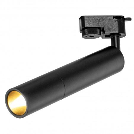 Spot LED 9W, 1026lm - 50 000 ore, directionabil pe sina monofazata, LED Market, HQ-D375 slim, Corp negru