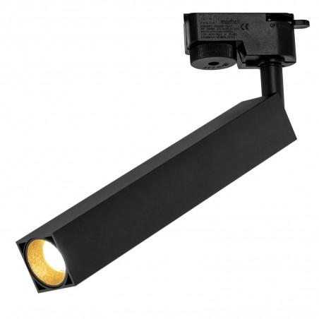 Spot LED 9W, 1026lm - 50 000 ore, directionabil pe sina monofazata, LED Market, HQ-D403 slim, Corp negru