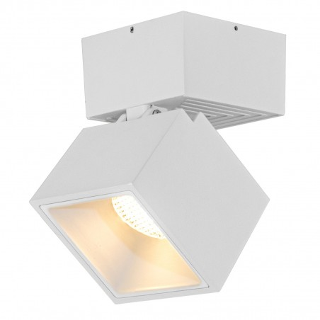 Spot LED 12W, 1368lm - 50 000 ore, cub orientabil aplicat, LED Market, LM-109, Corp Alb