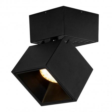 Spot LED 12W, 1368lm - 50 000 ore, cub orientabil aplicat, LED Market, LM-109, Corp Negru