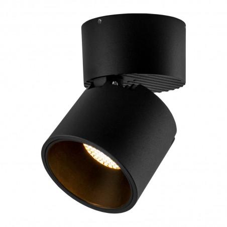 Spot LED 12W, 1368lm - 50 000 ore, cilindru orientabil aplicat, LED Market, LM-109, Corp Negru